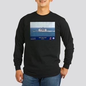 USS Vella Gulf CG-72 Long Sleeve Dark T-Shirt