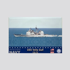 USS Vella Gulf CG-72 Rectangle Magnet
