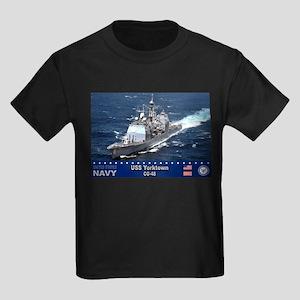 USS Yorktown CG-48 Kids Dark T-Shirt