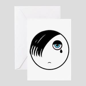 Emo Kid Greeting Card