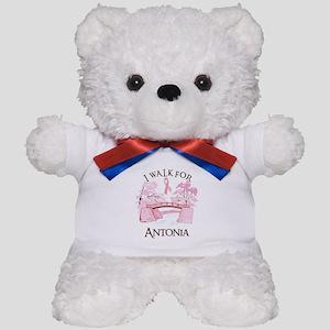 I walk for Antonia (bridge) Teddy Bear
