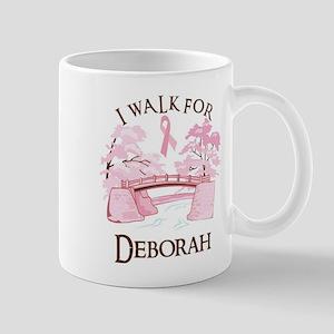 I walk for Deborah (bridge) Mug
