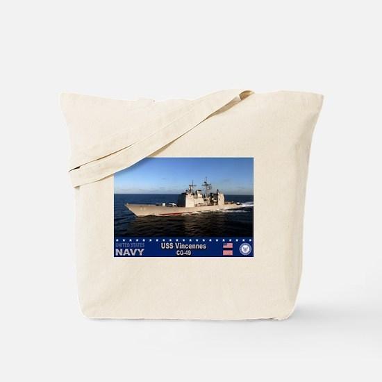 USS Vincennes CG-49 Tote Bag