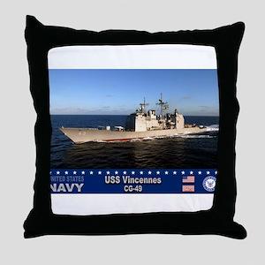 USS Vincennes CG-49 Throw Pillow