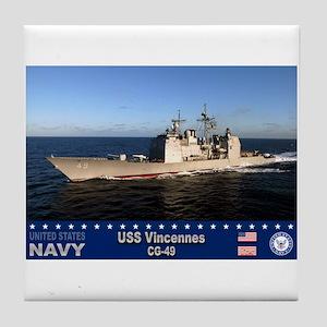 USS Vincennes CG-49 Tile Coaster