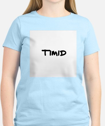Timid Women's Pink T-Shirt
