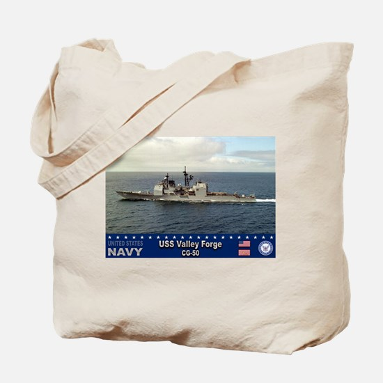 USS Valley Forge CG-50 Tote Bag