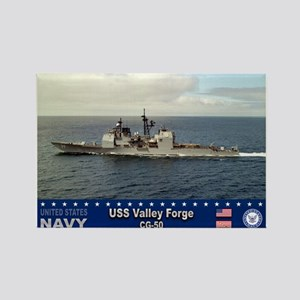 USS Valley Forge CG-50 Rectangle Magnet