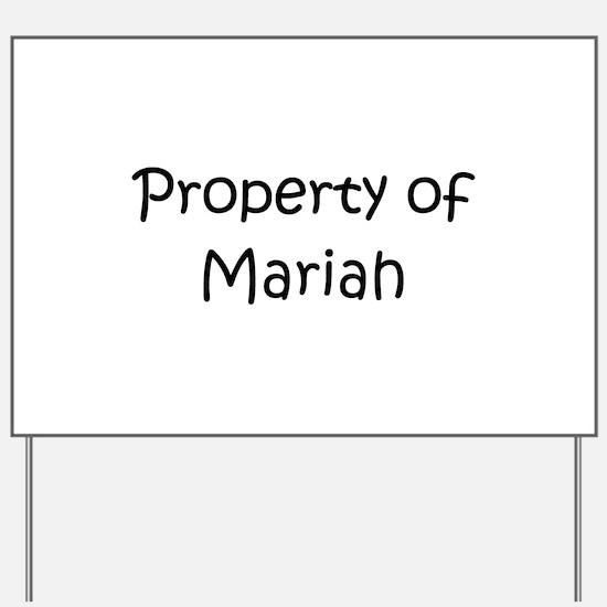 Funny Mariah Yard Sign