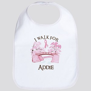 I walk for Addie (bridge) Bib