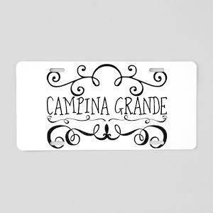 Campina Grande Aluminum License Plate
