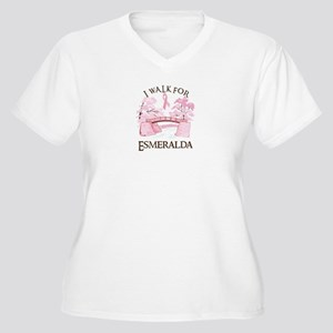 I walk for Esmeralda (bridge) Women's Plus Size V-