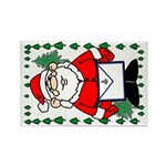 Masonic Santa Christmas Rectangle Magnet (10 pack)
