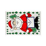 Masonic Santa Christmas Rectangle Magnet