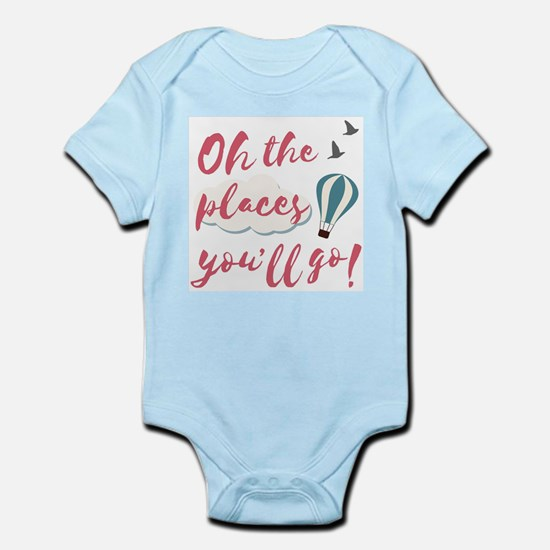 "Graduation gift ""Oh the places you& Body Suit"