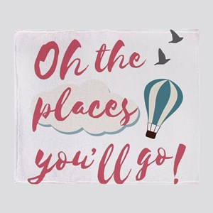 "Graduation gift ""Oh the places Throw Blanket"