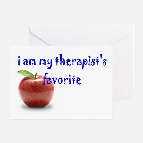 therapist's favorite Greeting Card