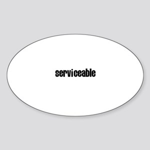 Serviceable Oval Sticker