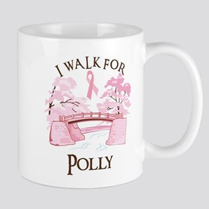 I walk for Polly (bridge) Mug