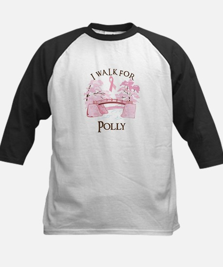 I walk for Polly (bridge) Kids Baseball Jersey