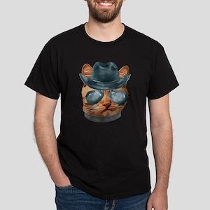 Cat Kitty Kitten In Clothes Aviators Cowbo T-Shirt
