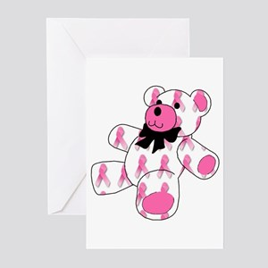 Breast Cancer Ribbon Bear Greeting Cards (Package
