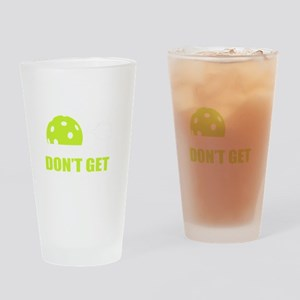 Dink Responsibly Funny Pickleball T Drinking Glass