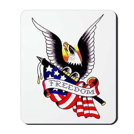 Freedom Eagle Flag Tattoo Mousepad