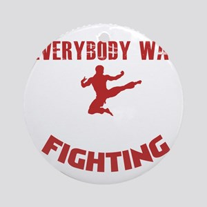 Surely Not Everybody Was Kung Fu Fi Round Ornament