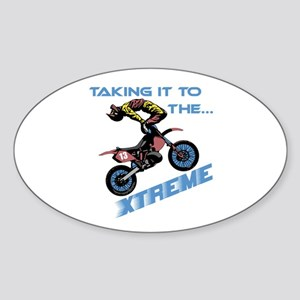 Taking It To The Xtreme Oval Sticker
