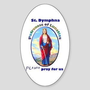 St. Dymphna Oval Sticker
