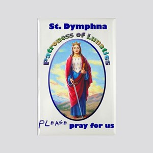 St. Dymphna Rectangle Magnet
