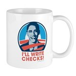 Obama: I'll Write Checks! Mug