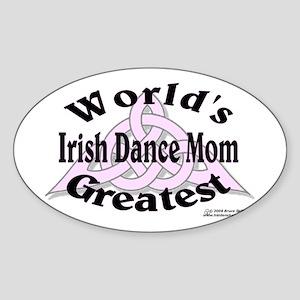 Greatest Mom - Oval Sticker