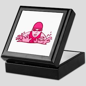 Pink Swimming Keepsake Box