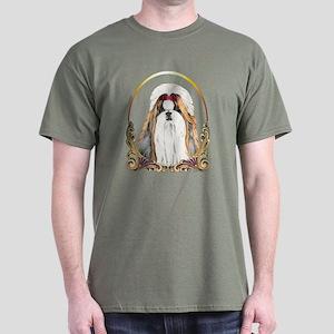 Shih Tzu Christmas Dark T-Shirt