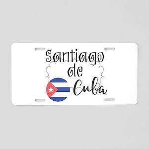 Santiago de Cuba Aluminum License Plate
