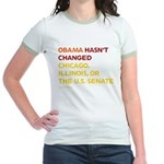 Obama Hasn't Changed Anything Jr. Ringer T-Shirt