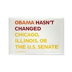 Obama Hasn't Changed Anything Rectangle Magnet (10