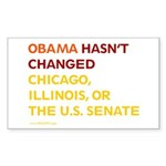 Obama Hasn't Changed Anything Rectangle Sticker