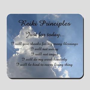Reiki Principles Mousepad