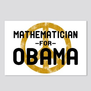Mathematician for Obama Postcards (Package of 8)