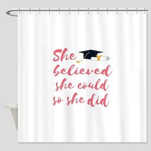 Graduation gift Shower Curtain