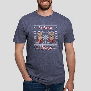 Llama Cute La La La Llama Ugly Christmas L T-Shirt