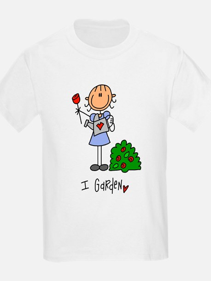 I Garden Stick Figure T-Shirt