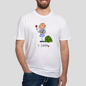 I Garden Stick Figure Fitted T-Shirt