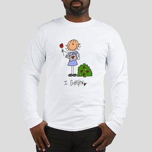 I Garden Stick Figure Long Sleeve T-Shirt