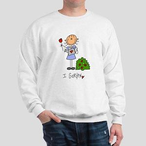 I Garden Stick Figure Sweatshirt