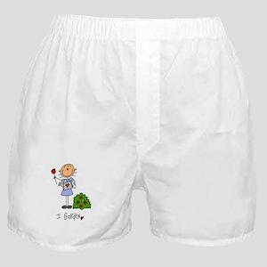 I Garden Stick Figure Boxer Shorts