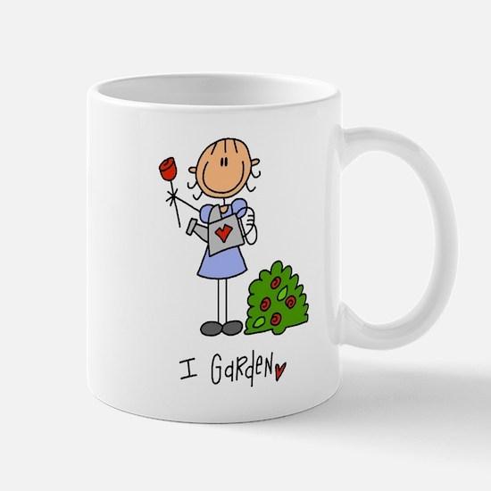 I Garden Stick Figure Mug